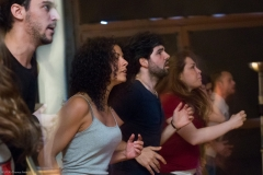 Greek Migrant Theatre Group Migronauten staging piece in Berlin Neukoelln